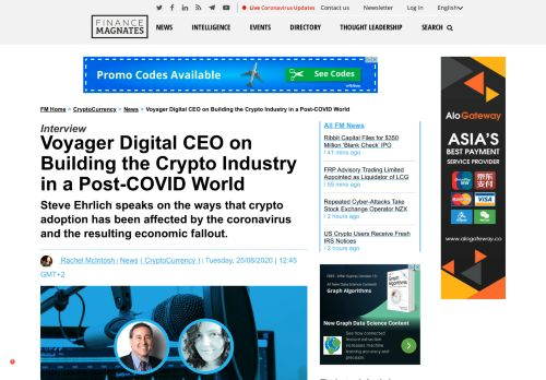 Voyager CEO on Building Crypto Industry in a Post-COVID World