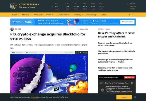 FTX crypto exchange acquires Blockfolio for $150 million