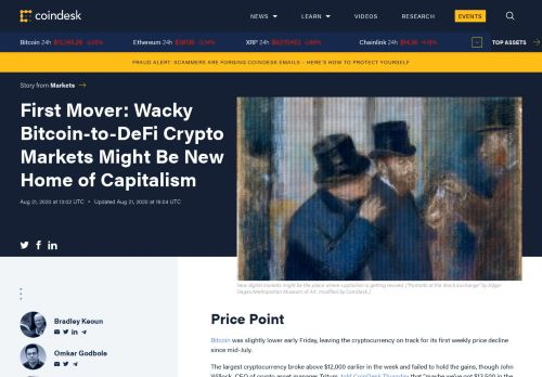Bitcoin-to-DeFi Crypto Markets Might Be New Home of Capitalism