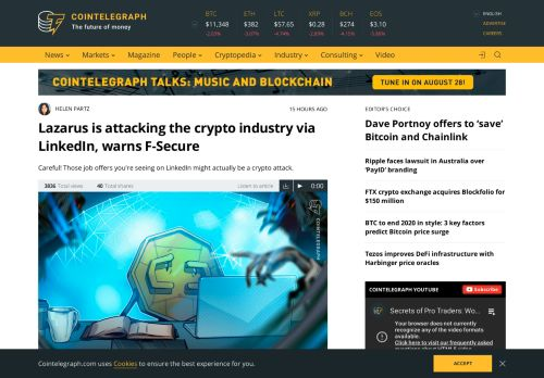 Lazarus is attacking the crypto industry via LinkedIn
