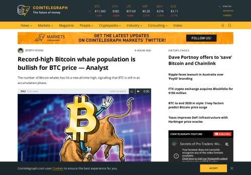 Bitcoin whale population is bullish for BTC price
