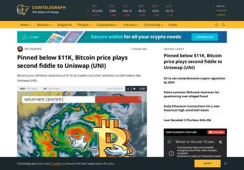 Bitcoin price plays second fiddle to Uniswap (UNI)