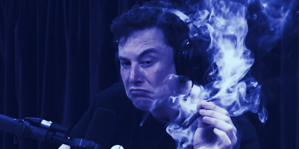 Elon Musk Smoking Cannabis on Joe Rogan Is Now 69 NFTs