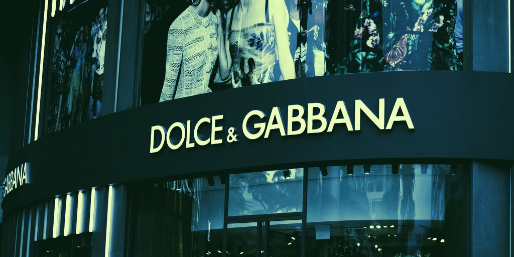 Dolce & Gabbana to Launch NFT Wearables
