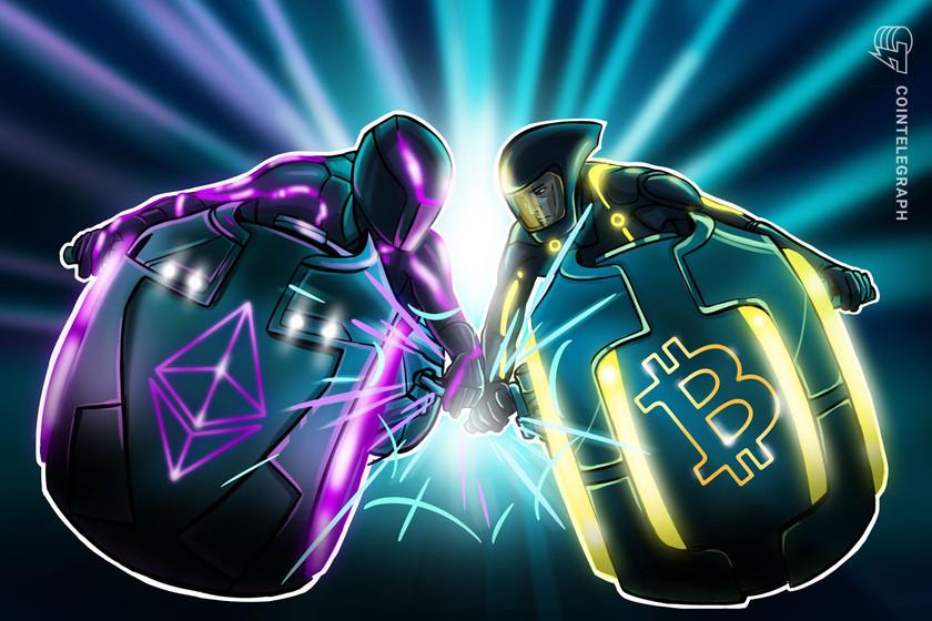 Ethereum eyes 3-week winning streak vs. Bitcoin as BTC price drifts below $39K