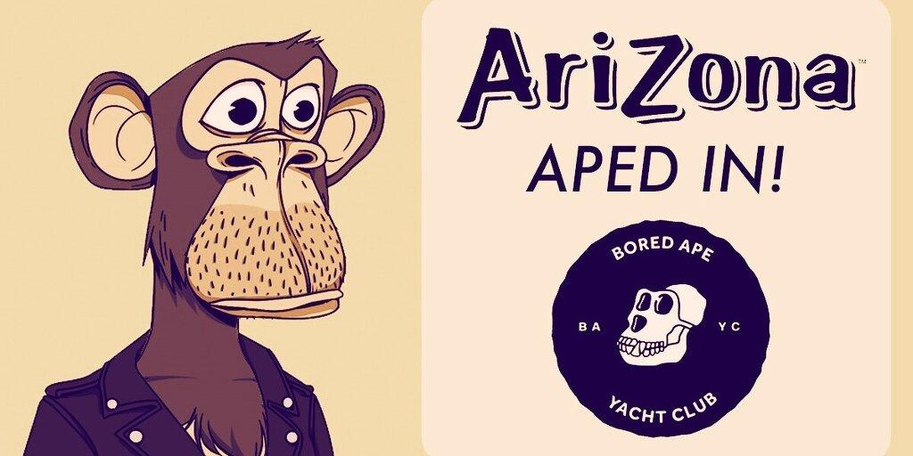 Arizona Iced Tea's Bored Ape NFT Brand Use Was 'Inappropriate', Creators Warn